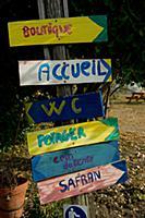 Signs at 'Safran de Bordeaux'  Ambares-et-Lagrave