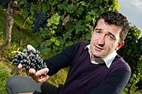 Jean-Baptiste Soulas  regisseur  in vineyard of Ch