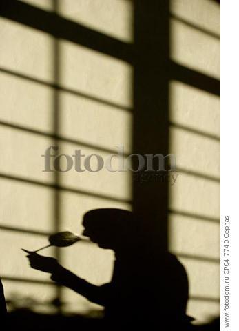 Shadow of person tasting wine in the Maison du Vin of Saint-Emilion  Gironde  France.  [St-Emilion / Bordeaux]
