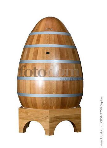 Egg shaped  oak cuve of Brive Tonneliers (Francois Freres). Brive-la-Gaillarde  Correze  France.