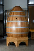 Egg shaped  oak cuve at Brive Tonneliers of Franco