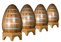 Egg shaped  oak cuves of Brive Tonneliers (Francoi