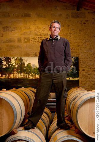 Alain Moueix of Chateau Fonroque  St-Emilion  Gironde  France.  [Saint-Emilion / Bordeaux]