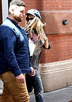 Rita Ora leaves a downtown hotel in New York City