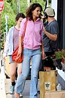 Katie Holmes on the set of the movie 'All We Had'