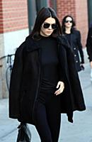 Model Kendall Jenner leaving her Soho apartment on