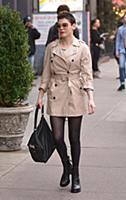 Actress Rose McGowan arrives at a downtown hotel o
