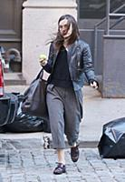 Actress Keira Knightley leaves her Tribeca apartme