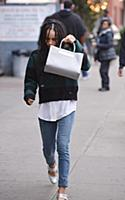 Actress Zoe Kravitz walks in the East Village on N