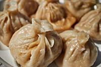 Momos, typical street food dumplings of Nepal and