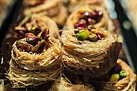 Arabic baklava nests