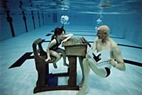 Underwater lessons with Duncan Goodhew at the bott