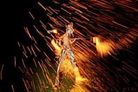 Stilt walker Cliff Lehwald of The Flaming Gorgeous