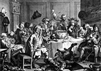 A Midnight Modern Conversation by Hogarth In St J