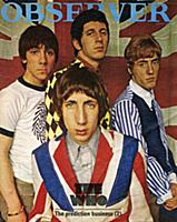 The Who pictured on the cover of the Observer Maga