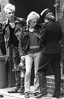 London 1984. Police stop and search young people i