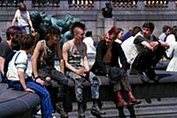 LondonPunks in Trafalgar Square