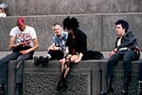 London. Punks in Trafalgar Square