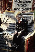 Punk carpet salesman in Covent Garden