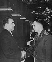 no date. Yuri Gagarin with Brezhnev  Supplied B