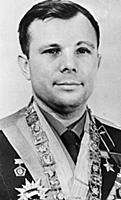 Yuri Gagarin, first man in space.