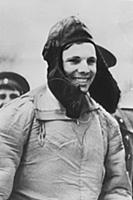 YURI GAGARIN STEPS OUT OF THE PLANE AFTER FLIGHT S
