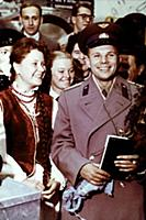 Yuri Gagarin among students of vocational technica
