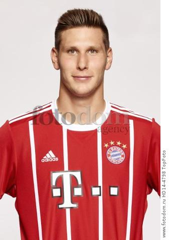 August 2017, Munich, Germany;  German Bundesliga, official photocall FC Bayern Munich for season 2017/18 in Munich, Germany: Niklas Suele.