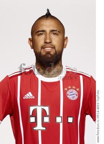 August 2017, Munich, Germany;  German Bundesliga, official photocall FC Bayern Munich for season 2017/18 in Munich, Germany: Arturo Vidal.