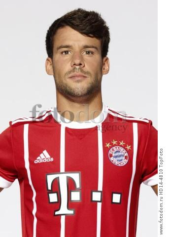 August 2017, Munich, Germany;  German Bundesliga, official photocall FC Bayern Munich for season 2017/18 in Munich, Germany: Juan Bernat.