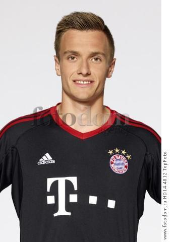 August 2017, Munich, Germany;  German Bundesliga, official photocall FC Bayern Munich for season 2017/18 in Munich, Germany: goalkeeper Christian Fruechtl.