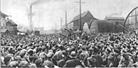 Lenin speaks at the Putilov Works, May 1917 From a