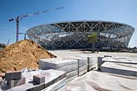 22nd August 2017, Volgograg, Russia; Construction