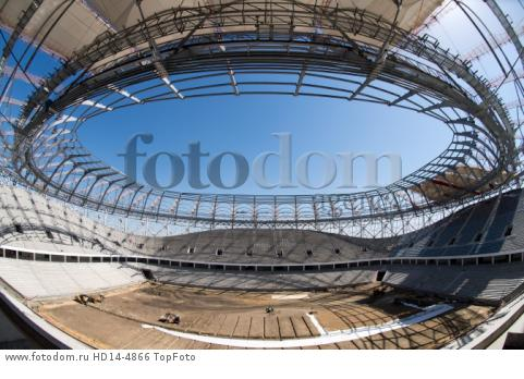 22nd August 2017, Volgograg, Russia; The interior of the Volgograd Arena taken in Volgograd, Russia, 22 August 2017. The city is one of the locations for the Russia 2018 FIFA World Cup.