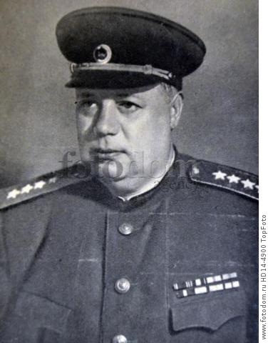 Fyodor Ivanovich Tolbukhin , 1894 –1949. Soviet military commander. August 1941, he was made the chief of staff of the Crimean Front, which he held until March 1942. From May to July 1942, he was the assistant commander of the Stalingrad Military District. After that, he was the commander of the 58th Army until March 1943. The 58th was involved in the Battle of Stalingrad, where Tolbukhin's superior, Colonel-General Andrei Yeremenko, praised his command organization and military prowess. After his command of the 57th, Tolbukhin was placed in command of the Southern Front. In May 1944, Tolbukhin was transferred to control of 3rd Ukrainian Front. During the Summer Campaign, from June to October 1944, Tolbukhin and Malinowski launched their invasion of the Balkans and were able to conquer most of Romania. Malinowski was promoted to Marshal of the Soviet Union