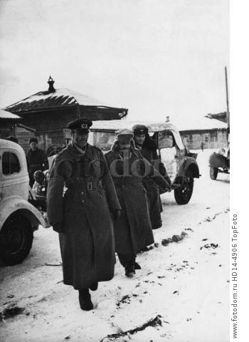 WW2: February 1943. Stalingrad, Beketovka. Field-Marshal Paulus and his staff taken prisoner.