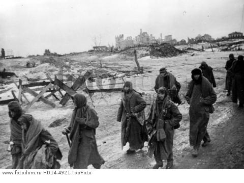 German prisoners who lost in the Battle of Stalingrad in February 1943 .  WORLD WAR II STALINGRAD 1943 GERMAN POWS  ;   Reissue; 20 FEBRUARY 1963