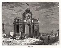 Москва. Красные ворота. Гравюра из A Popular Histo