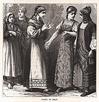 Псковские женщины. Гравюра из A Popular History Of