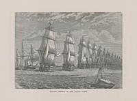 Парусные суда Балтийского флота. Гравюра из A Popu