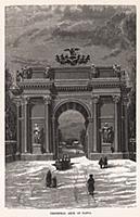 Нарвские триумфальные ворота. Гравюра из A Popular
