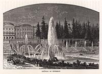 Большой дворец в Петергофе. Гравюра из A Popular H