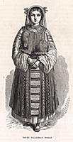 Молодая женщина из Валахии. Гравюра из A Popular H