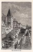 Укрепительные валы в немецком городе Ульм. Гравюра