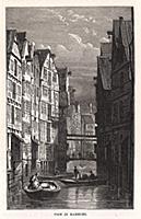 Вид на Гамбург. Гравюра из A Popular History Of Ru