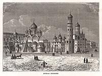 Русские церкви. Гравюра из A Popular History Of Ru