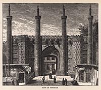 Ворота в Тегеране. Гравюра из A Popular History Of