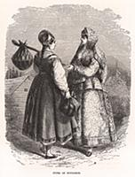 Типы новгородцев. Гравюра из A Popular History Of