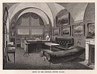 Комната императора в Зимнем дворце. Гравюра из A P