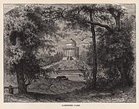 Лазенский парк в Варшаве. Гравюра из A Popular His